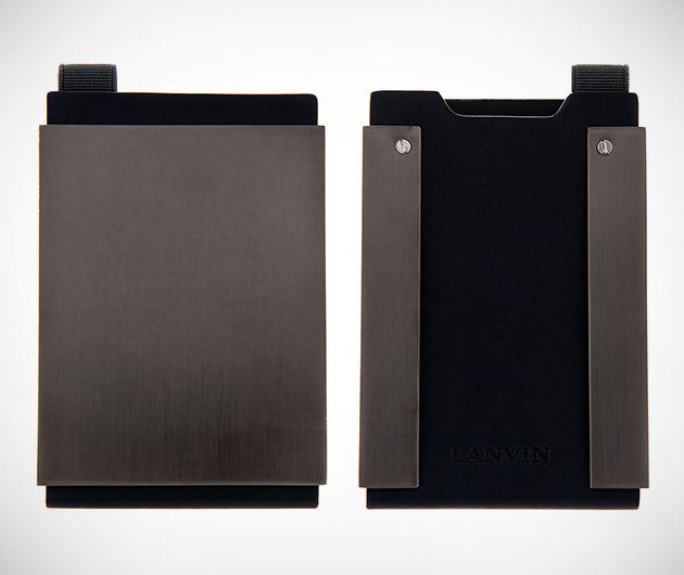 Lanvin Gunmetal Cardholder