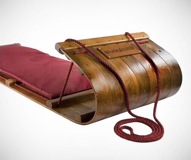Lucky Bums Wood Toboggan
