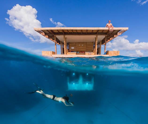 Underwater Floating Hotel Room