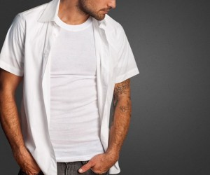 Ribbed Tee Retro Fit Undershirt