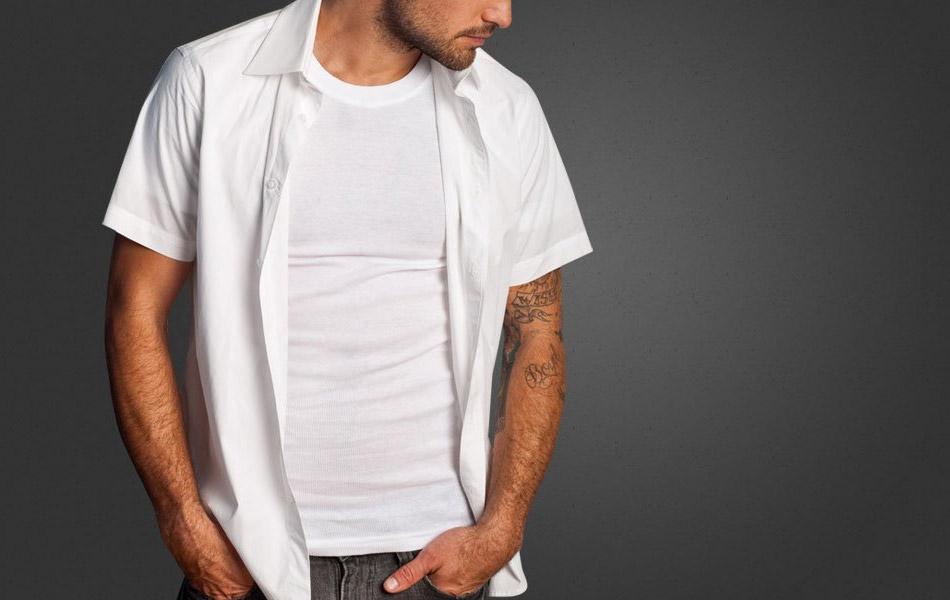 Ribbed Tee Retro Fit Undershirt