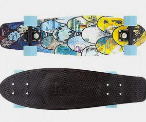 I Ride I Recycle Penny Nickel Skateboard