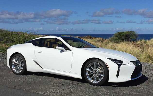 2018 lexus lc 500 blue. the sleek prowling profile, befitting its \u201csports coupe\u201d title, looks ready to break sound barrier with an enormous sloping hood that undulates across a 2018 lexus lc 500 blue