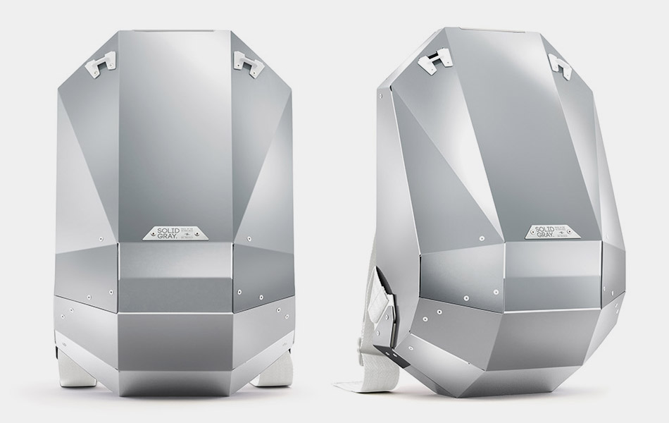 Solid Gray Aluminum Edition Backpacks