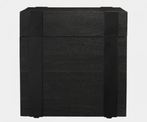 CB2 Black Square Trunk