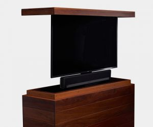 Outdoor Cumaru TV Lift Cabinet